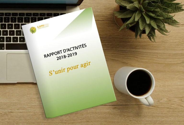 RAPPORT D'ACTIVITÉS 2018-2019