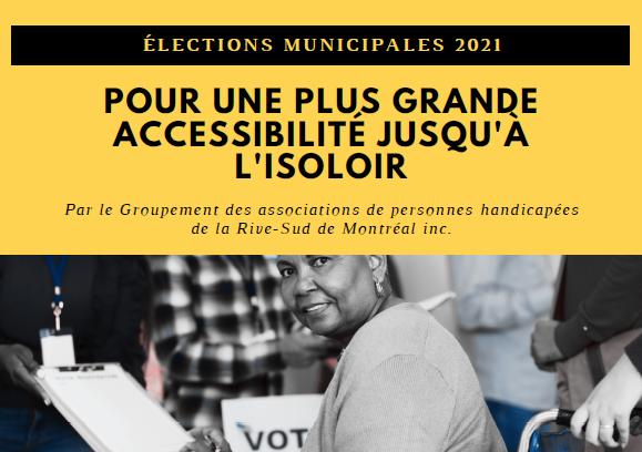 Élections municipales 2021 – Pour une plus grande accessibilité jusqu'à l'isoloir